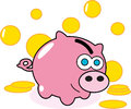Pig money bank Royalty Free Stock Photography