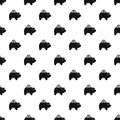Pig money box pattern vector