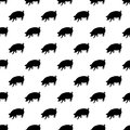 Pig pattern seamless black for any design Royalty Free Stock Photo