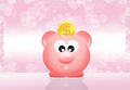 Pig piggy bank abstract illustration Stock Photo