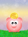 Pig piggy bank illustration of Royalty Free Stock Image