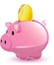 Pig Pocket Money Coin Cartoon Royalty Free Stock Photo