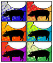 Pig in pop art Stock Photography
