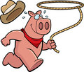 Pig Rodeo Royalty Free Stock Photos