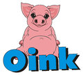 Pig say oink Royalty Free Stock Photo