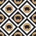 Pig seamless patern Royalty Free Stock Photo
