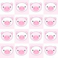 Pig seamless pattern Stock Image