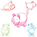 Pig Set Royalty Free Stock Photography