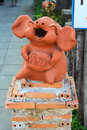 The pig statuary Royalty Free Stock Photo