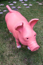 Pig Statue In Lawn