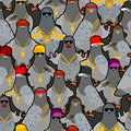 Pigeon gangster gang pattern seamless. Cool City bird background . SWAG gangsta ornament. Pigeon guy rapper. vector texture