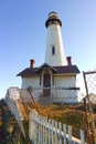 Pigeon Point Lighthouse in California Royalty Free Stock Photography