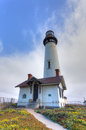 Pigeon point lighthouse in san francisco bay california Stock Image