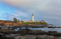 Pigeon point lighthouse in san francisco bay california Stock Photography