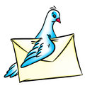 Pigeon post mail Stock Photos