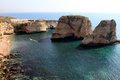 Pigeon rocks in beirut raouche district lebanon middle east Royalty Free Stock Photography