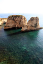 Pigeon rocks in beirut raouche district lebanon middle east Stock Images