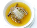 Pigeon soup chinese style food with shark fin Stock Images