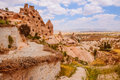 Pigeon Valley  in Cappadocia area Royalty Free Stock Photo