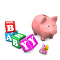 Piggy Bank Baby Royalty Free Stock Photo