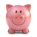 Piggy bank with clipping path included Stock Photos