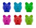 Piggy bank colorful set Stock Photography
