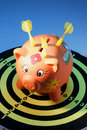 Piggy Bank and Dart Board Stock Photography