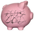 Piggy Bank Debt Bankrupt Money Royalty Free Stock Photo