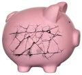Piggy Bank Debt Bankrupt Money Royalty Free Stock Photo