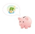 Piggy bank dream a rest this is file of eps format Royalty Free Stock Photography