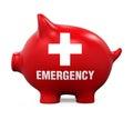 Piggy Bank Emergency Fund Royalty Free Stock Photo