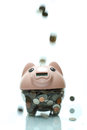 Piggy bank is good for saving the money Stock Image