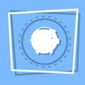 Piggy Bank Icon Savings Money Concept Web Button Royalty Free Stock Photo
