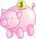 Piggy bank icon or symbol Stock Photo