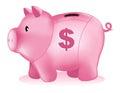 Piggy bank money box Royalty Free Stock Photo
