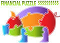 Piggy Bank Puzzle Royalty Free Stock Photos