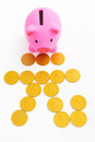 Piggy bank and renminbi sign Royalty Free Stock Photo