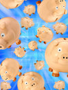 Piggy Bank Savings Background Stock Photos
