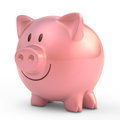 Piggy bank with smiling face Royalty Free Stock Photo