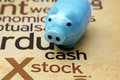 Piggy bank and stock concept close up of Royalty Free Stock Photography