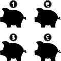 Piggy bank vector illustration web Royalty Free Stock Photography
