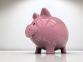 Piggy bank on white Stock Images