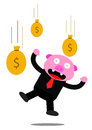 Piggy in business activity illustration graphic of Stock Images