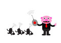 Piggy in business activity illustration graphic of Royalty Free Stock Image