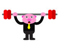 Piggy in business activity illustration graphic of Royalty Free Stock Photo