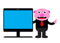 Piggy in business activity illustration graphic of Royalty Free Stock Photography