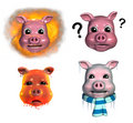 Piggy Emoticons - 2 Stock Photos