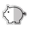 Piggy savings isolated icon
