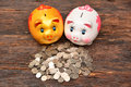 Piggy and stack coins for save money and financial, tax season Royalty Free Stock Photo