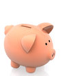 Piggybank 3D Photographie stock